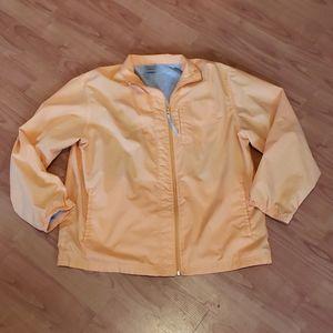 Nike light orange peach lined windbreaker jacket